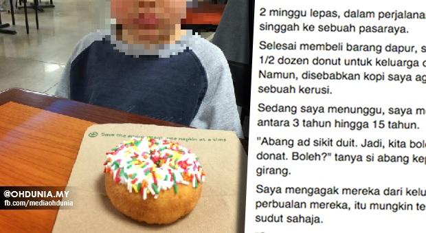'Kak, Kami Ni Orang Susah Dan Ini Pertama Kali Kami Makan Donut'