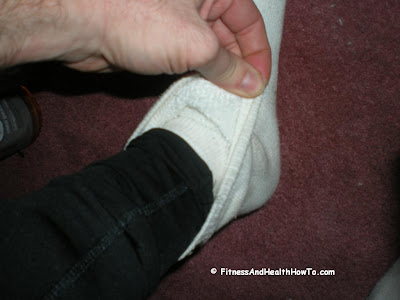 One simple tip for keeping your feet warm during a cold weather run is to double up your socks.