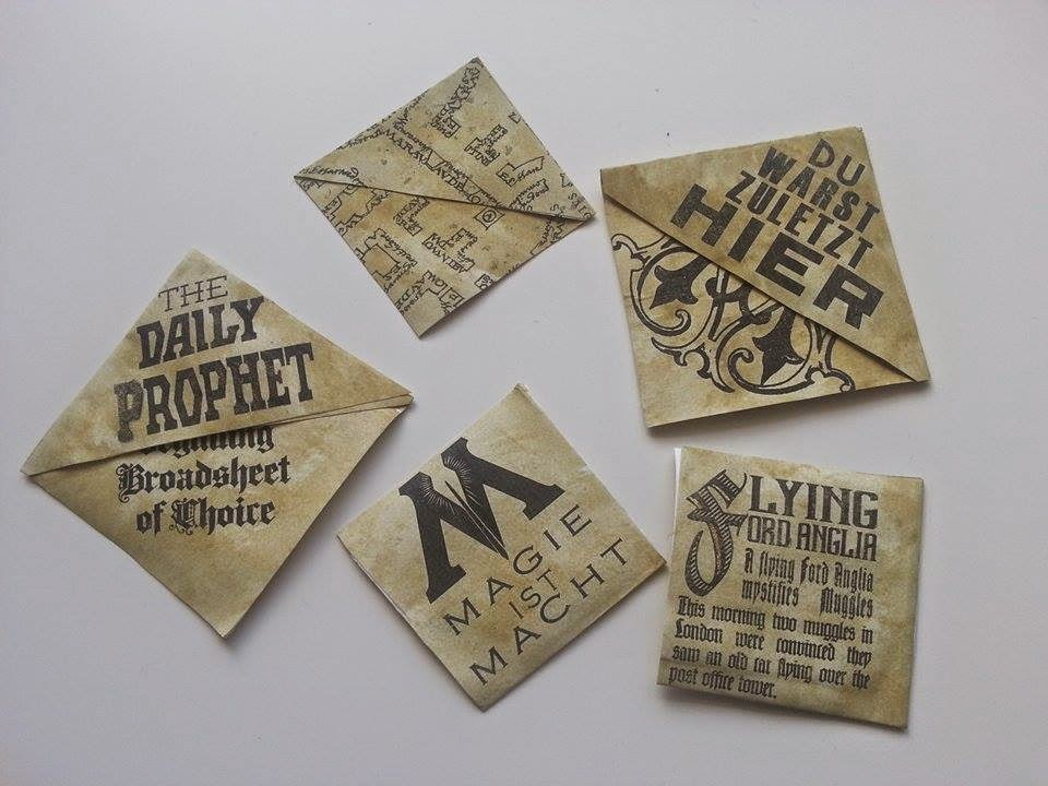 Lielan reads zeigt her eure lesezeichen 1 - Harry potter basteln ...