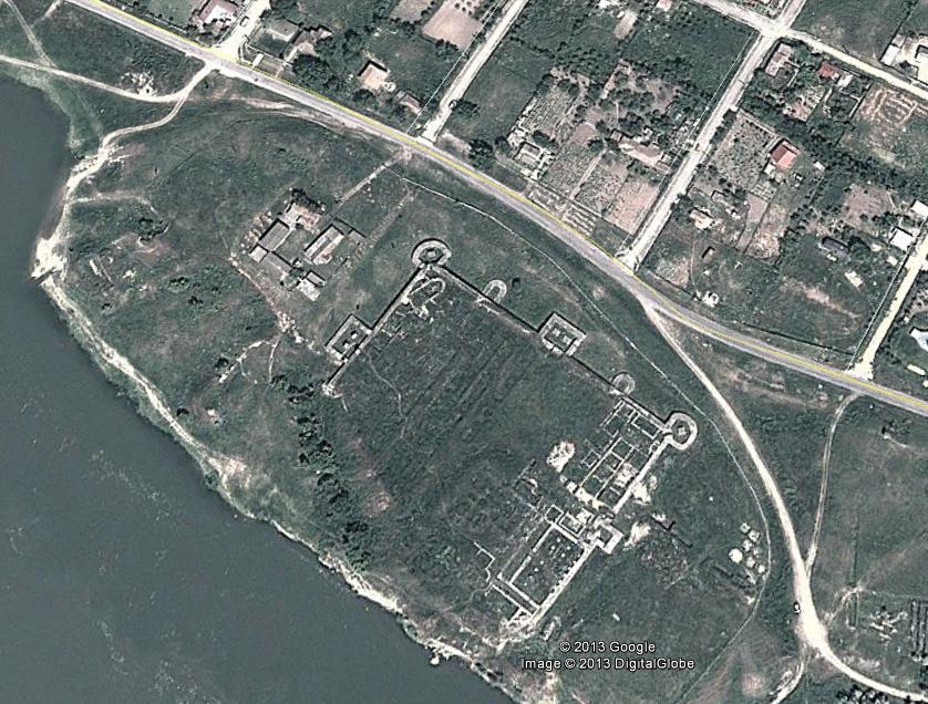 cetatea capidava vedere din satelit