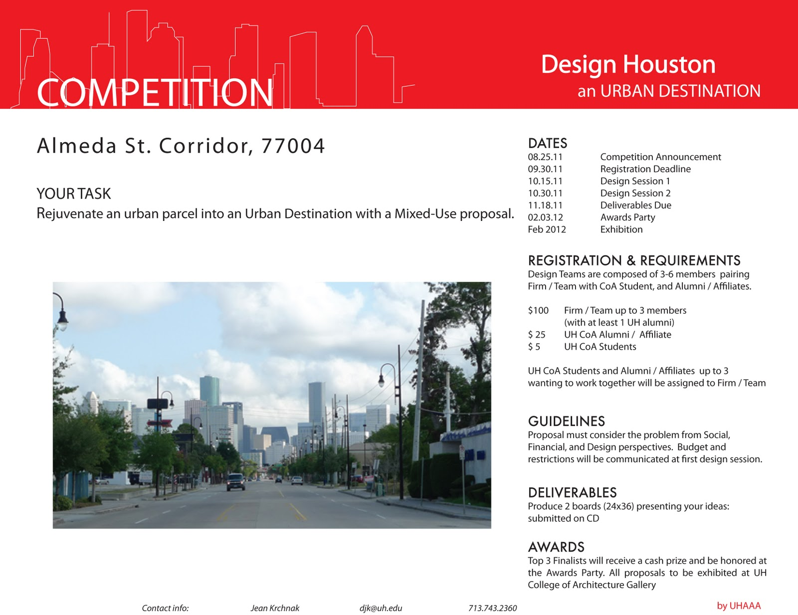 design competition sponsored by the UH Architecture Alumni