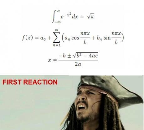 My reaction when i see the maths problem