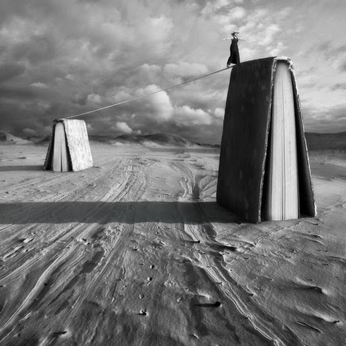 15-The Reader-Dariusz-Klimczak-Black-and-White-Surreal-Altered-Reality-www-designstack-co