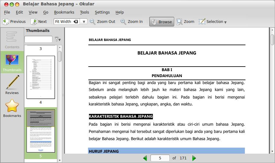Okular - Aplikasi PDF Reader dan XPS Reader di Linux