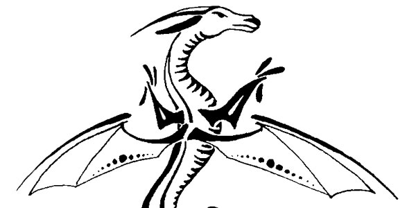 Tribal Dragon Tattoo Concept
