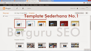 Template Sederhana Blogger No 1