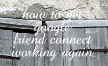 Blog friends gadget not working?