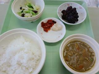 写真:パルス入院3クール4日目の昼食