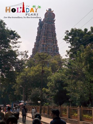 East Tower of Meenakshi Amman Temple from Outside