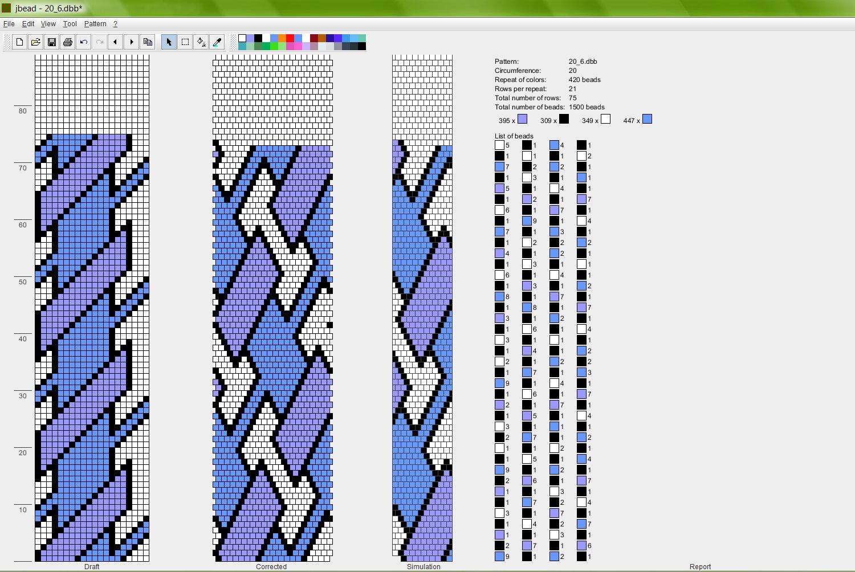 Вязание жгутом бисером узоры