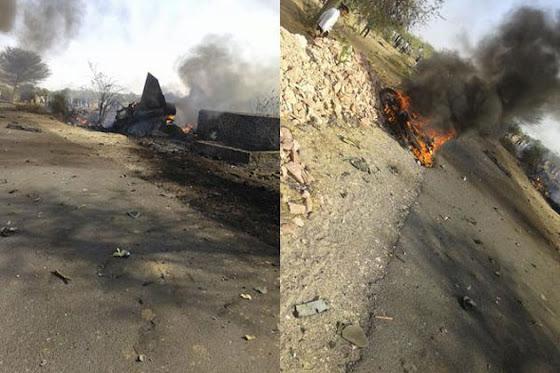 Crashed MiG-27