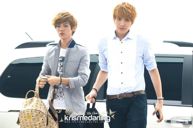 exo luhan, kris airport style