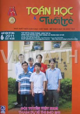 đáp án đề thi thử số 9 trên tạp chí Toán học Tuổi trẻ