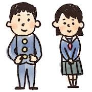 高校生・中学生のイラスト「学ランとセーラー服」