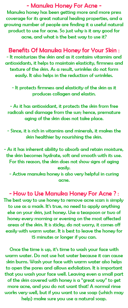 Manuka Honey for Acne