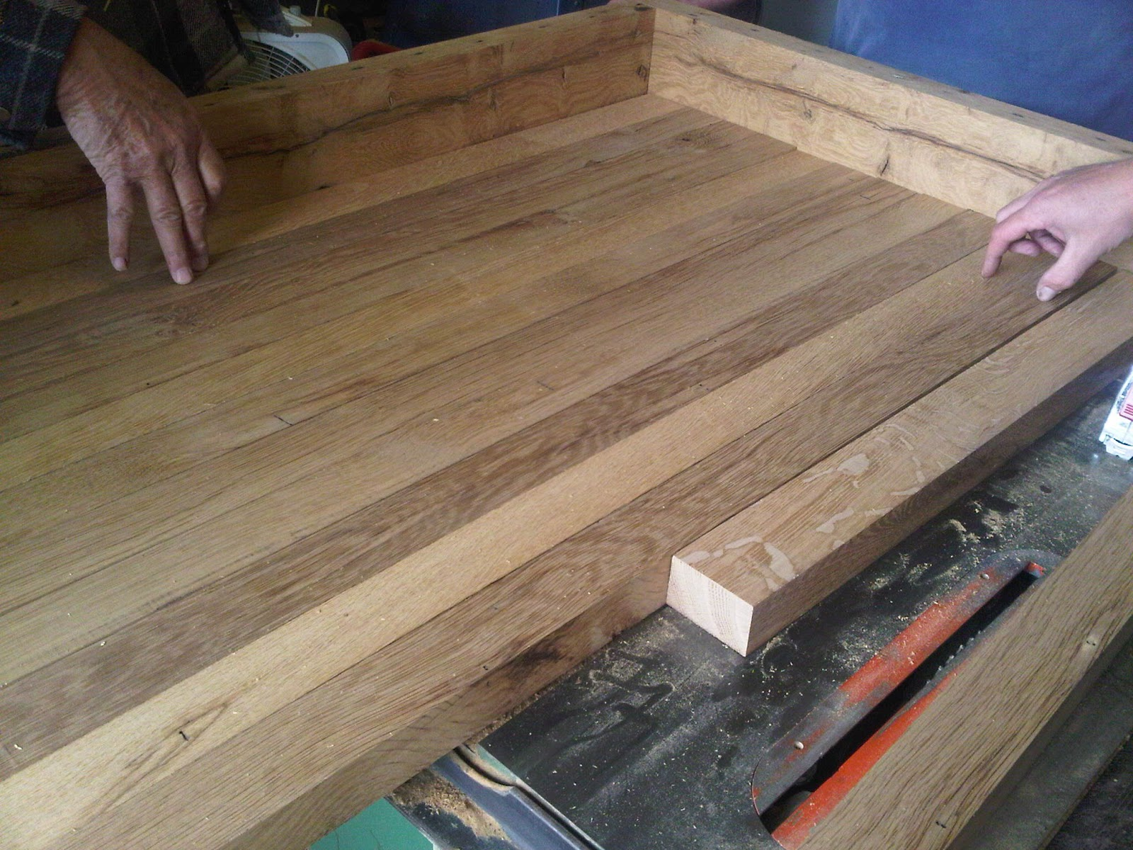 Keeping it cozy butcher block countertops made out of for Recycled hardwood