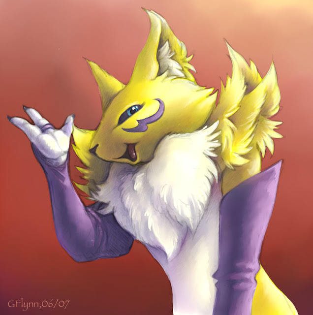 Renamon sketch por snoot