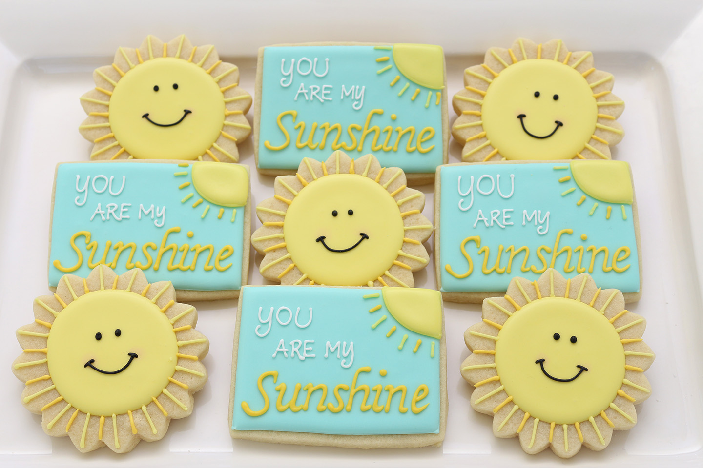 You Are My Sunshine Baby Shower Cookies