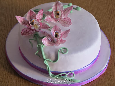 torta orchidee cymbidium