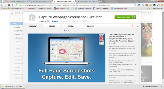 capture screenshot with fireshot