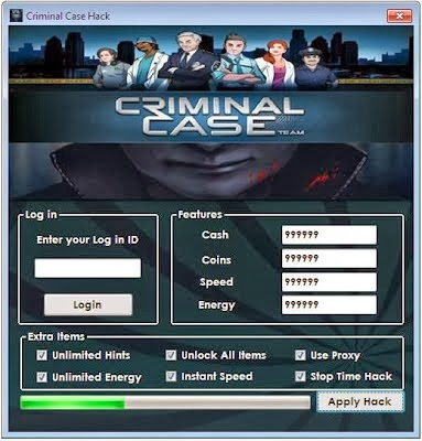 Criminal Case Hack Cheat Tool