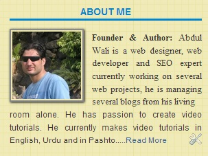author box for blogger
