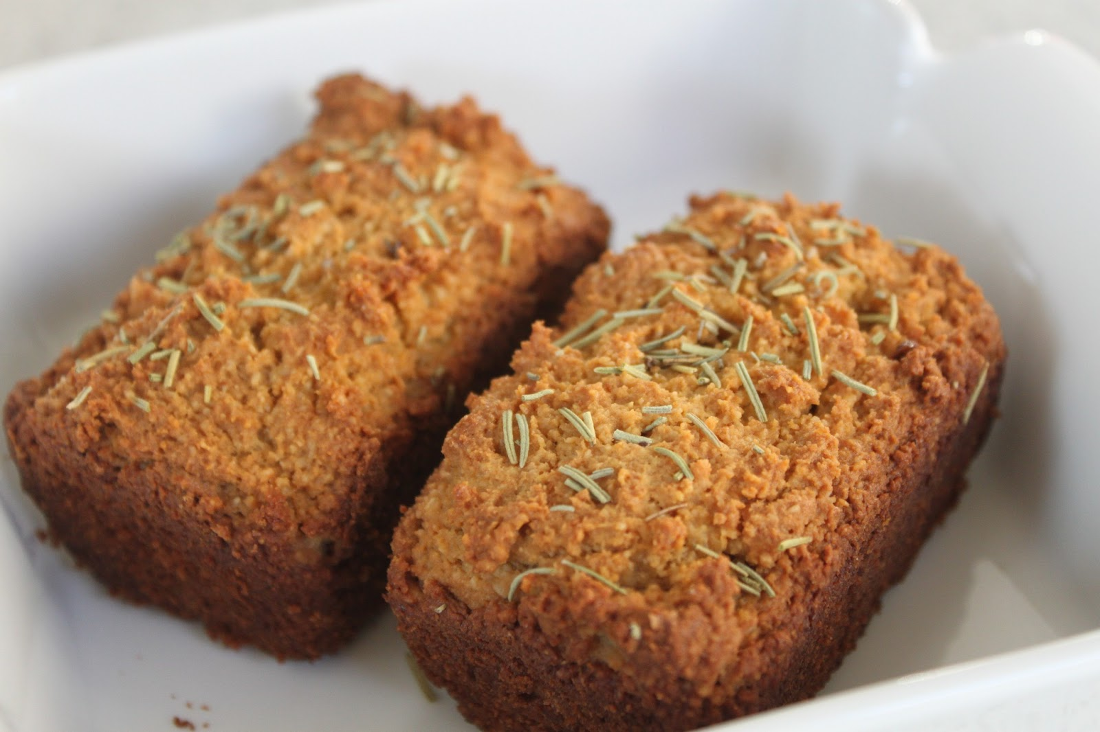 Mini loaves of Rosemary Garlic Almond Bread adapted from the Basic ...