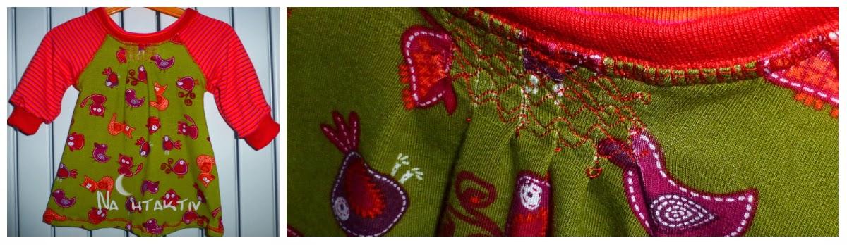nahtaktiv Jersey Vögel Streifen ottobre Jerseykleid Bündchen Overlock nahtaktiv Fuchs Katze Vogel Bird Streifen Ringel