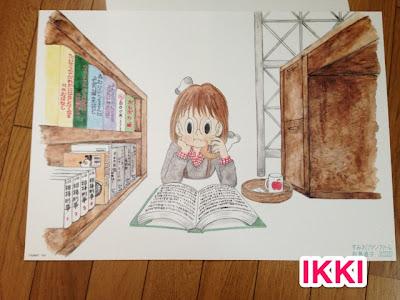 月刊IKKIより 松島直子さんの「すみれファンファーレ」ポスターが届いた.