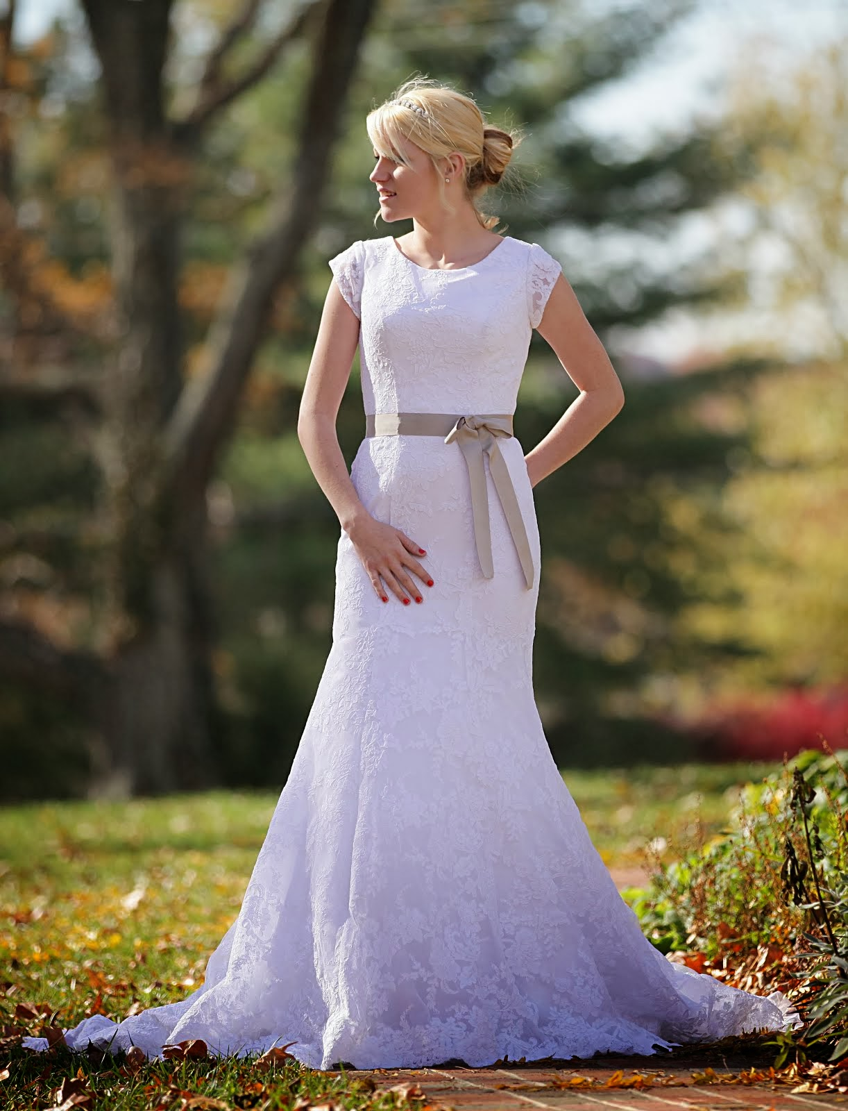 Modest Sheath Wedding Dress