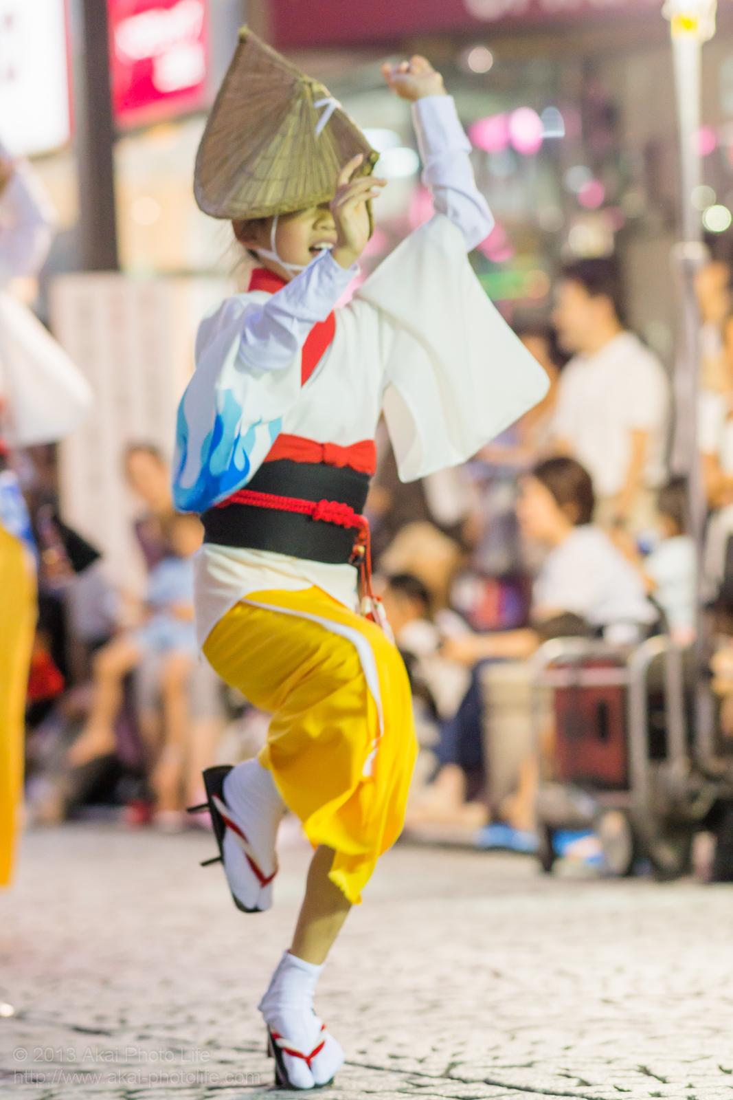 三鷹阿波踊り、きまぐ連の子供による女踊り