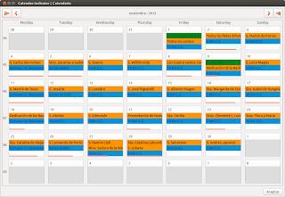 Sincroniza Google Calendar en Ubuntu, Calendar-indicator ubuntu 13.10