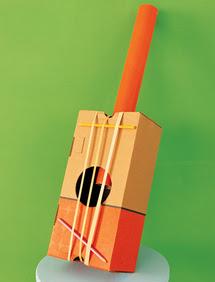 Banjo guitarra casero hecho a partir del reciclaje