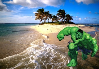 The Incredible Hulk Free Posters Wallpapers The Green Monster is trying to get you in Beautiful Island background
