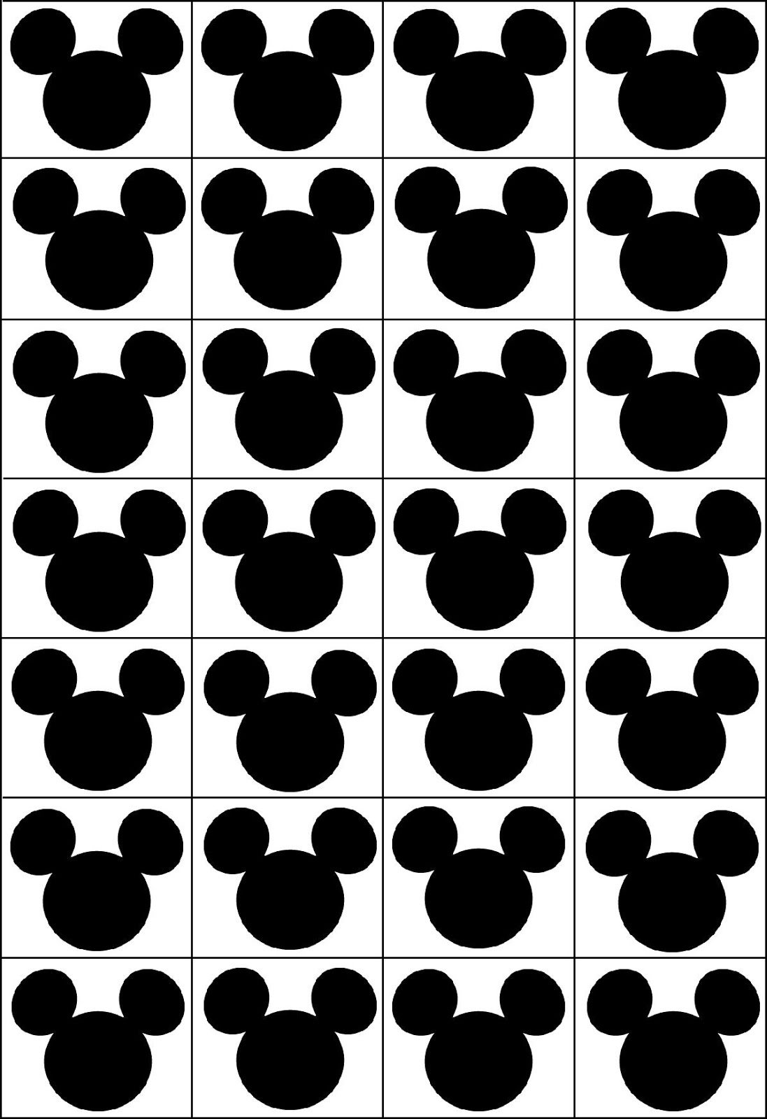 graphic relating to Printable Bingo Chips referred to as RobbyGurls Creations: Disney Bingo