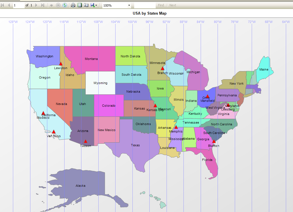 SQLCircuit Representation Of Geographical Information Using SSRS - Us map lines