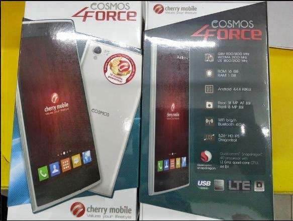 Cherry Mobile Cosmos Force, 64-bit Quad Core with LTE for Php6,999