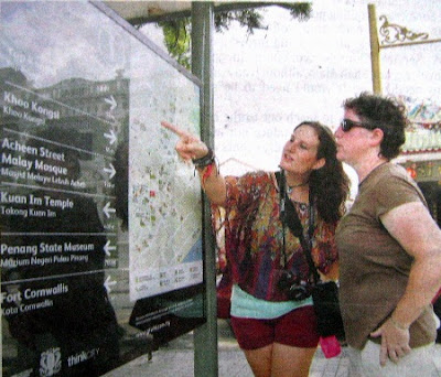 Penang wayfinding system for tourist