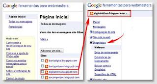 página - ferramentas para webmasters