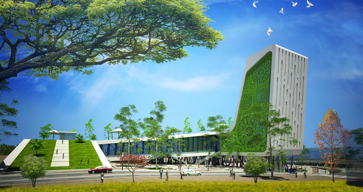 Agence d 39 architecture d 39 infographie projet centre d for Projet d architecture