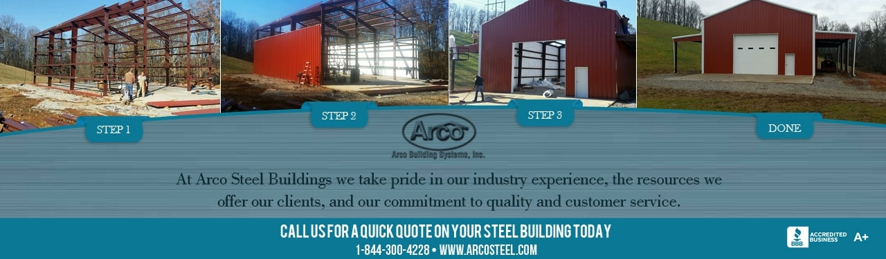 Image: Arco Steel Buildings collage