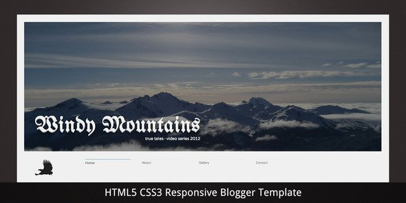 Windy Mountains–Responsive Premium Blogger Template