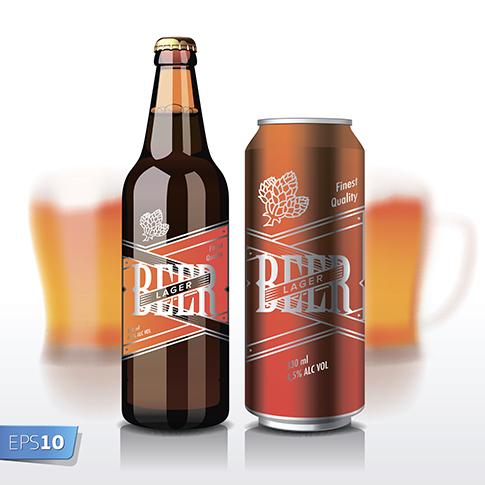 cerveza - vector realista