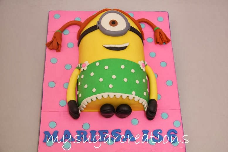 Minion Birthday Cake For Girl Image Inspiration of Cake and