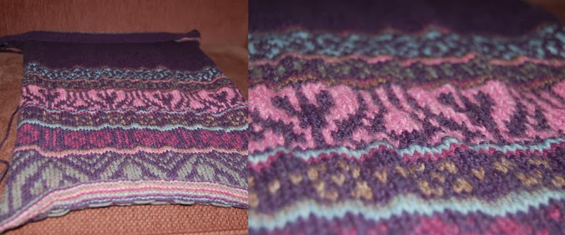 Unblocked knitting