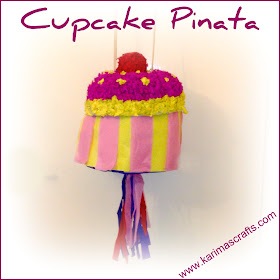 cupcake party theme pinata