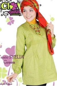 Clover Clothing Blus Syelia - Green (Toko Jilbab dan Busana Muslimah Terbaru)
