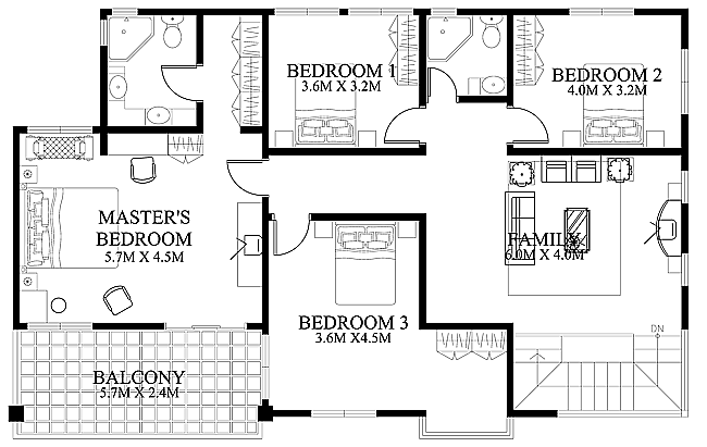 modern house design 2012002 second floor house floor plan pic home design and stylefloor - Home Design House Plans