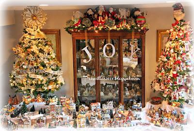 Christmas village houses and Christmas decor