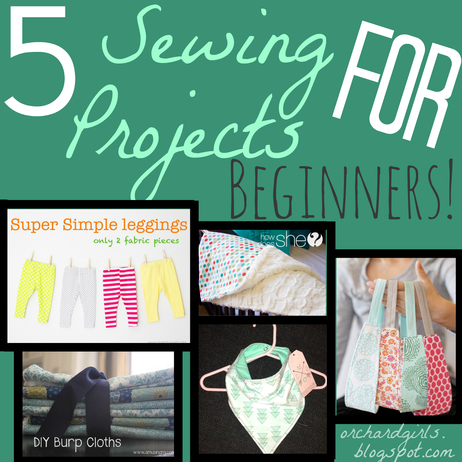5 Sewing Projects for Begginers